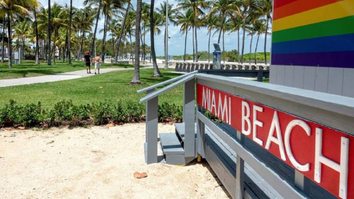 Miami Beach reabrirá playas en junio.