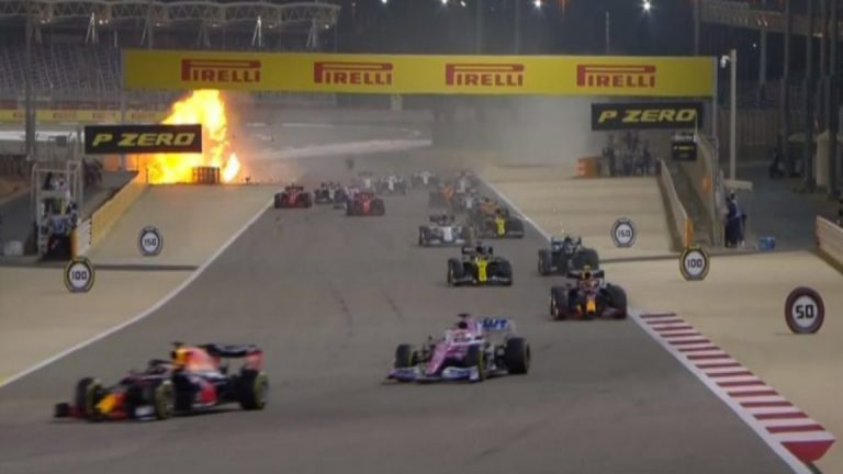 Romain Grosjean sufre gravísimo accidente en el GP de Bahrain (+video)
