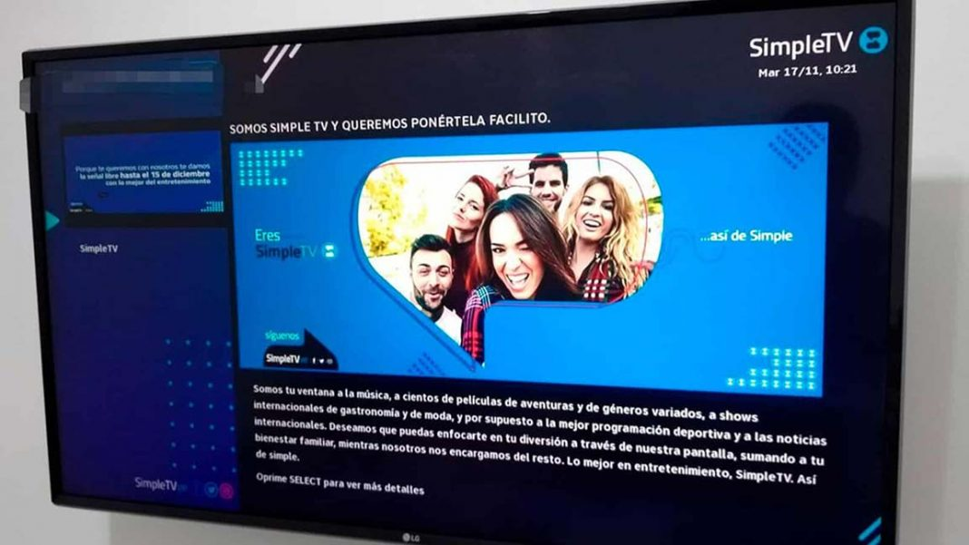 Esta es la tarifa de los decodificadores adicionales de Simple TV